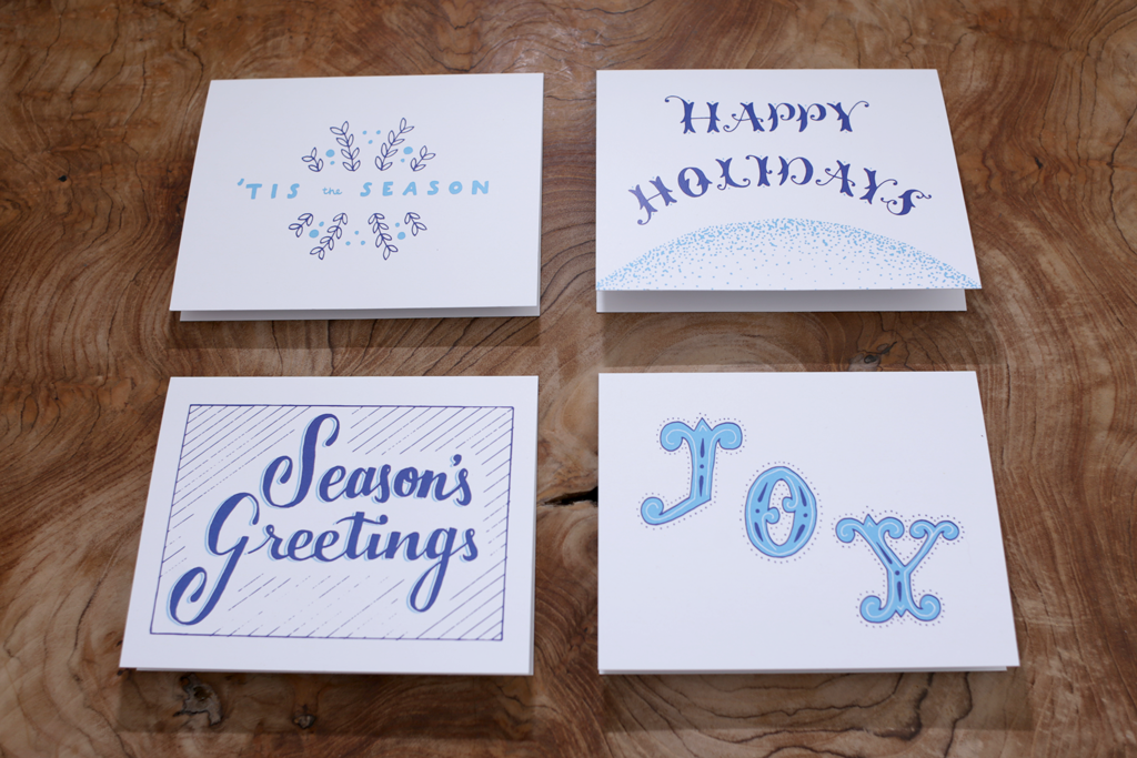 holiday-cards-hand-lettering-design