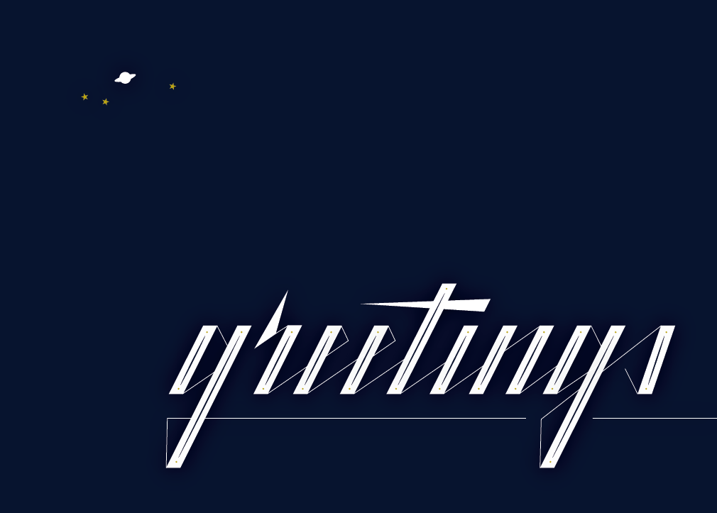 greetings-space-hand-lettering-design