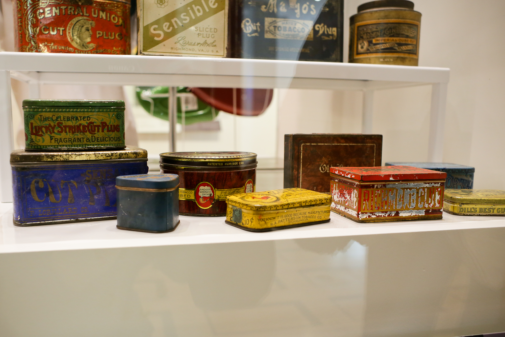 Richmond has an extensive history in the tobacco industry. I love how intricate all of these tobacco tins are.