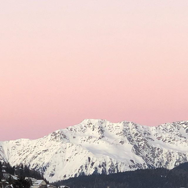 Sunset in Davos #nofilter