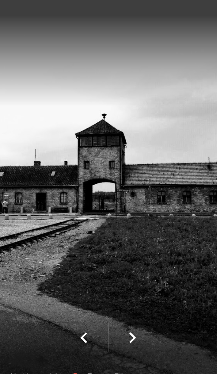 Entrance of Birkenau concentration camp