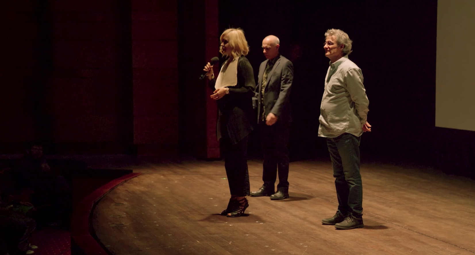 Lena Herzog and awarded sound designers Marco Capalbo and Mark Mangini at the Kennedy Center (2019)