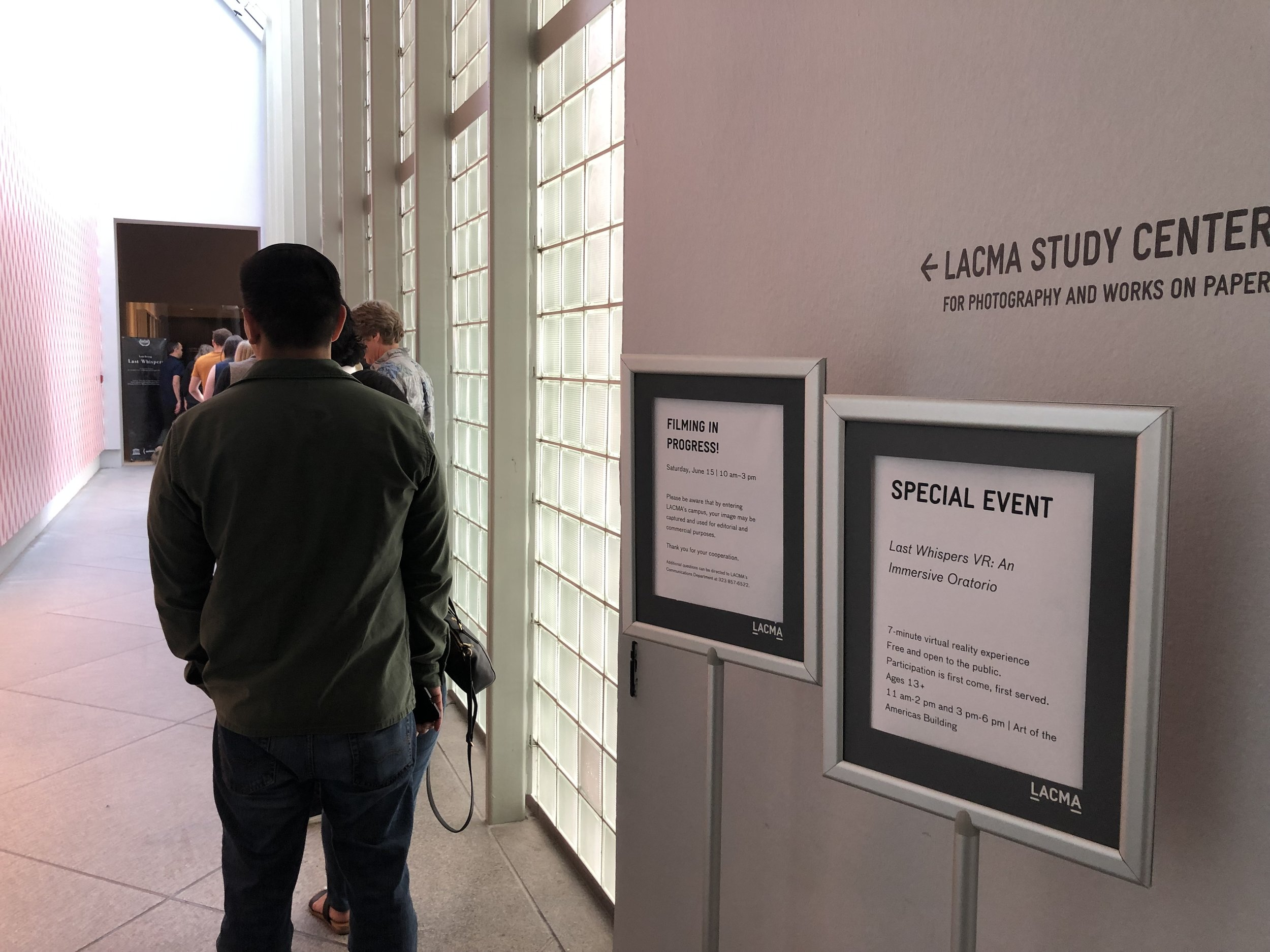 The long line when we showed at LACMA (2019)