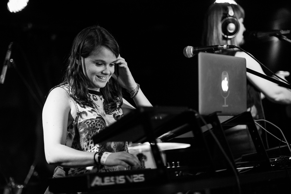 Meredith Whelan, DJ, performing with Great Highway