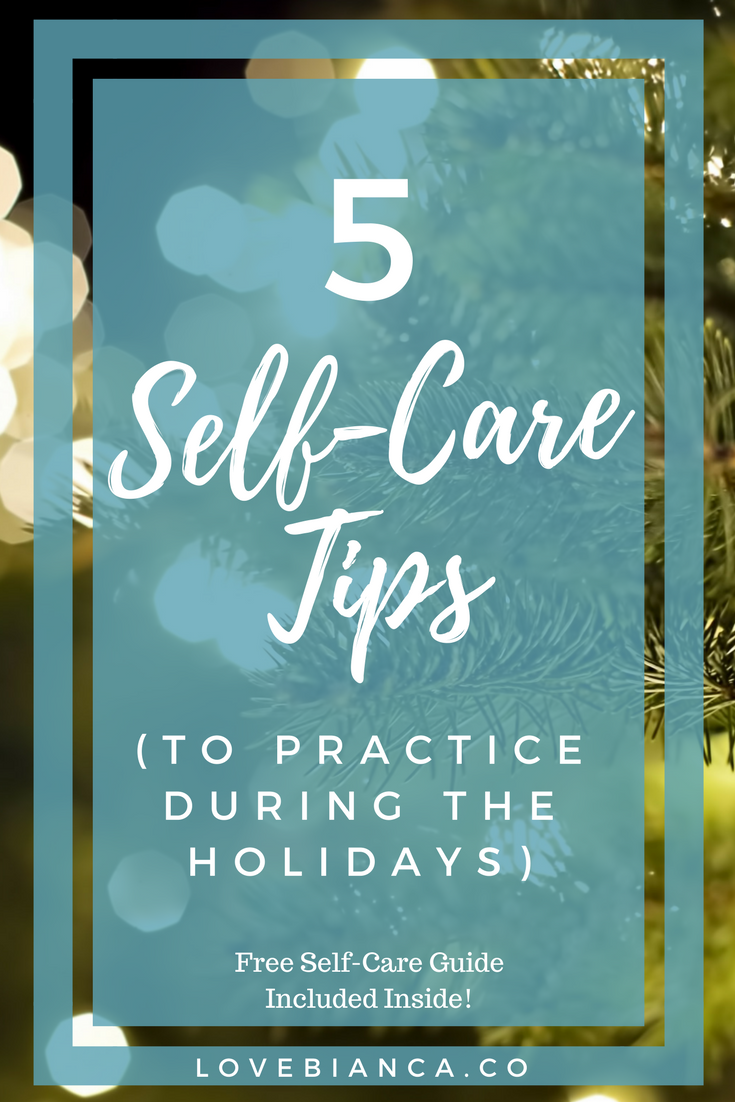 Dreading the busyness that comes with the holidays? Use these self care tips to navigate the challenges that come with the season. Plus get a FREE 16-page printable Self Care Guide to start your own self care routine. #selfcare #selfcareroutine #selfcaretips #selfcareworksheets