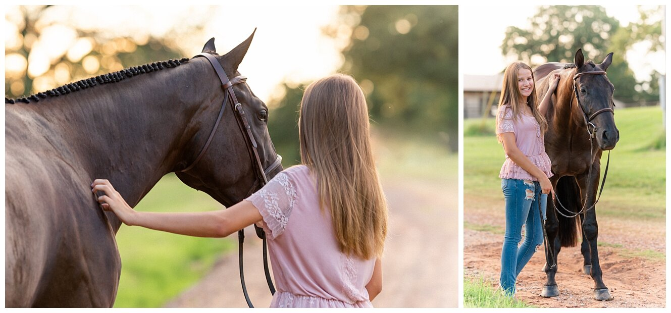 Hubbout A Shoutout, AQHA Hunter Under Saddle prospect by Hubba Hubba Huntin. Equestrian Portrait Session in Edmond, Oklahoma. Horse and Rider Posing. Equine Fine Art. Hunter Horse. All Around Prospect. Senior Portraits.
