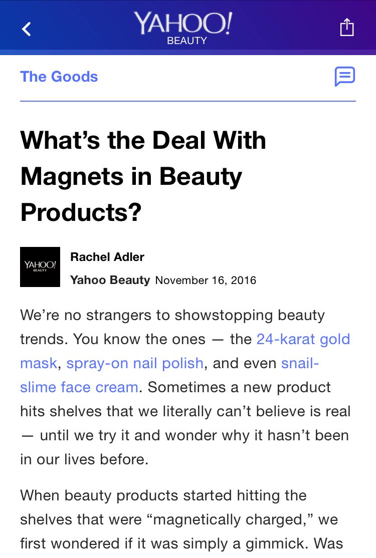 Yahoo! Beauty 11/16/16