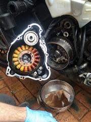 Inside the alternator