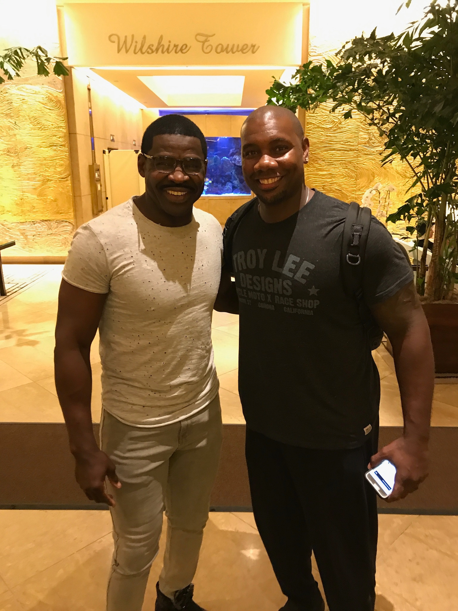 Michael Irvin and Ryan Howard