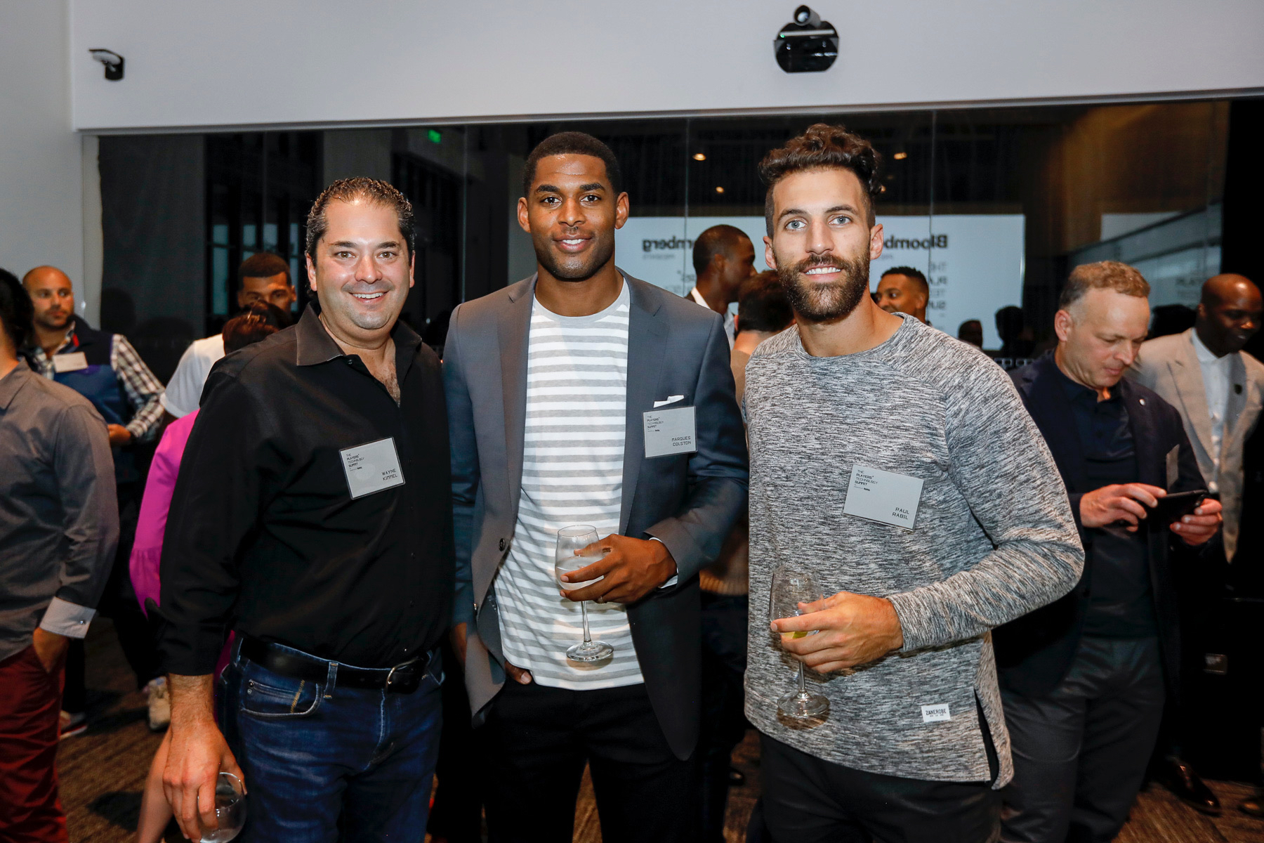 Wayne Kimmel, Marques Colston and Paul Rabil