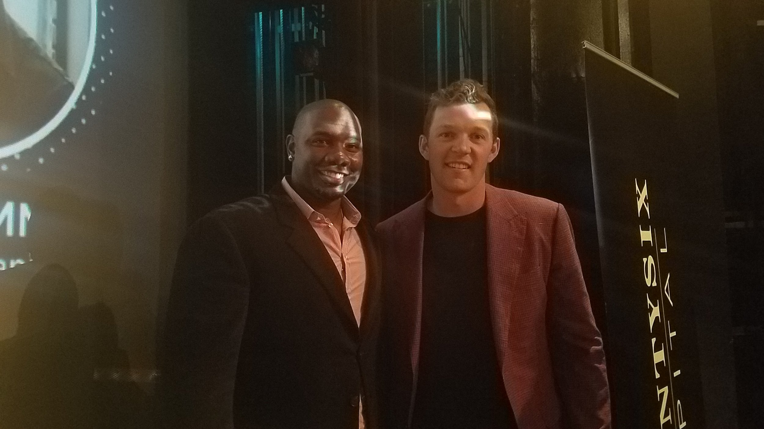 Ryan Howard, 2008 World Series Champion with the Philadelphia Phillies and venture capitalist at SeventySix Capital, with Rhys Hoskins, Philadelphia Phillies player, at our Future of Sports Tech & Sports Betting Conference
