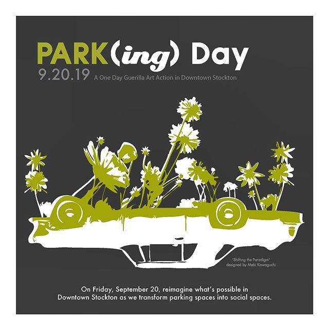 PARK(ing) Day is here again! Join us downtown today (Friday) for a one day transformation of parking spaces into public spaces.  Installations are located throughout downtown. Grab your lunch and take a stroll to visit them all!  Special thanks to our space makers this year: @sanjoaquinrtd @stocktonthehub @sanjoaquincog @the_downtowner_stockton @thegoldenrosebarbershopco @downtownstockton