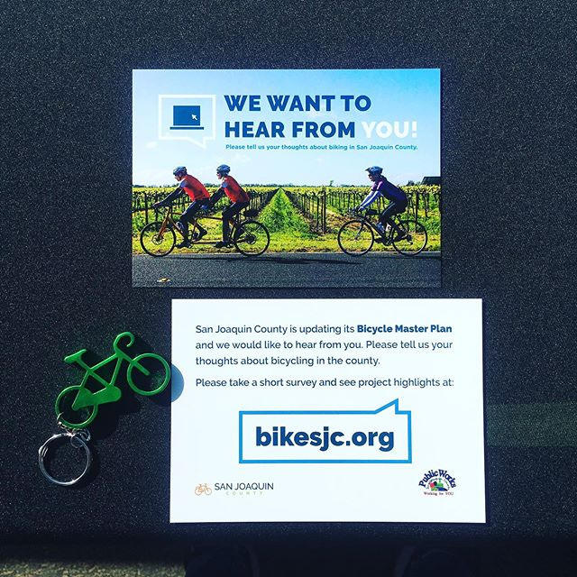 🚨 Advocacy Alert! 🚨 San Joaquin County is updating their bicycle master plan! If you ride on County roads (aka - do any of our Sunday or LSD rides) or live in an unincorporated area, they need to hear from you! Visit BikeSJC.org to leave your comments on the interactive map or take a survey.  #sjbike #sjbikecoalition #biketastic #sanjoaquincounty