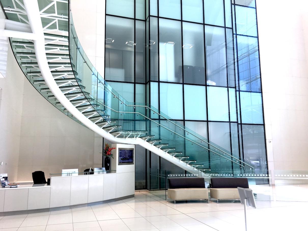 Inside main building entrance