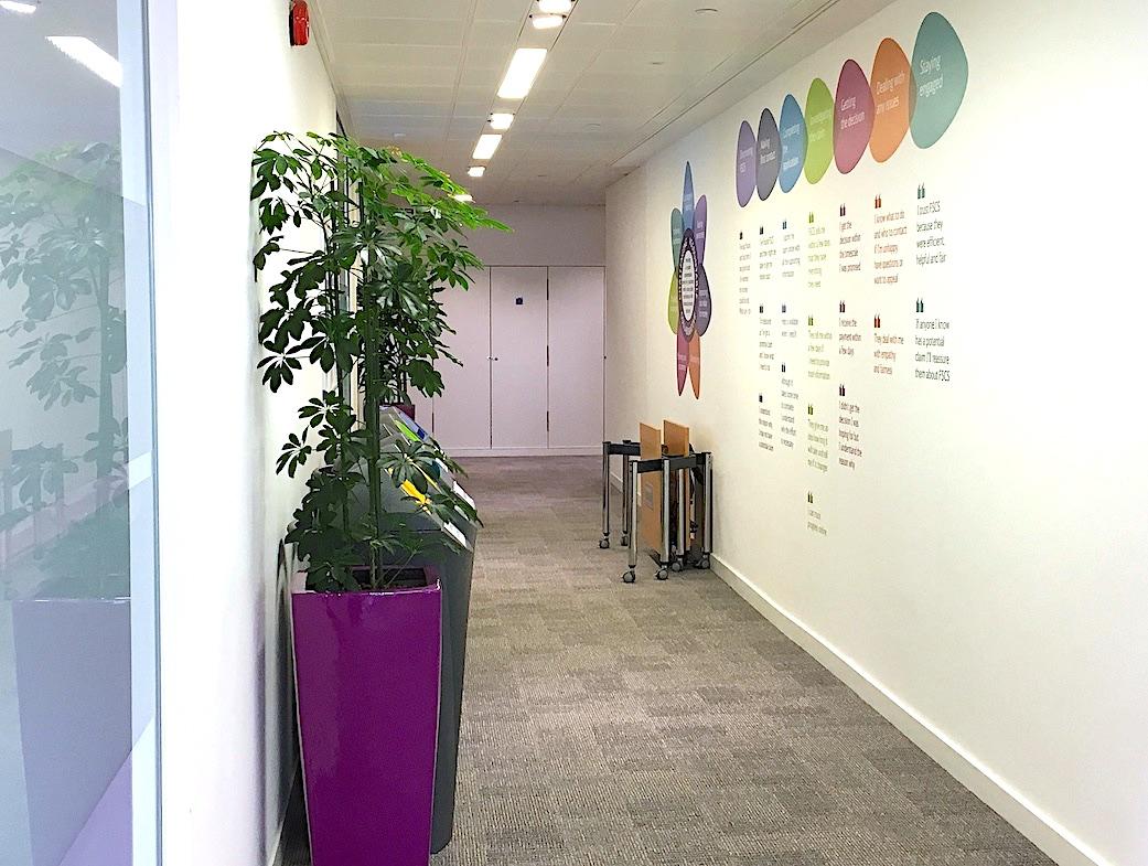 Corridor with Brand Values