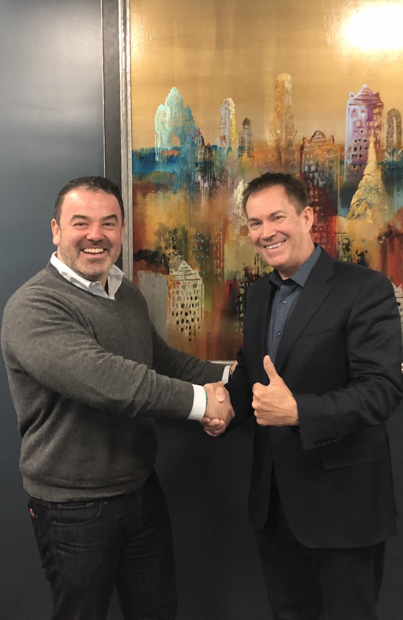 Dealer compliance specialist Max Zanan (left) and Ted Ings announce the formation of the Comprehensive OEM Dealer Compliance Platform on April 17, 2019 in New York City.