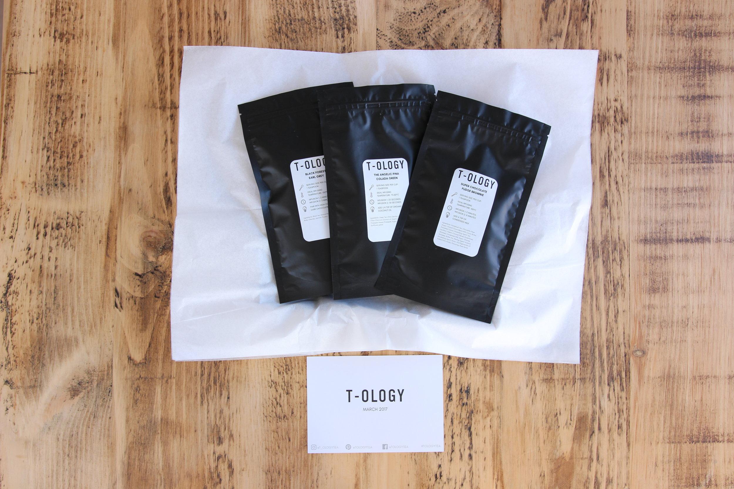 STEP 3 T-OLOGY Premium Tea Subscription Loose Leaf Tea Packets
