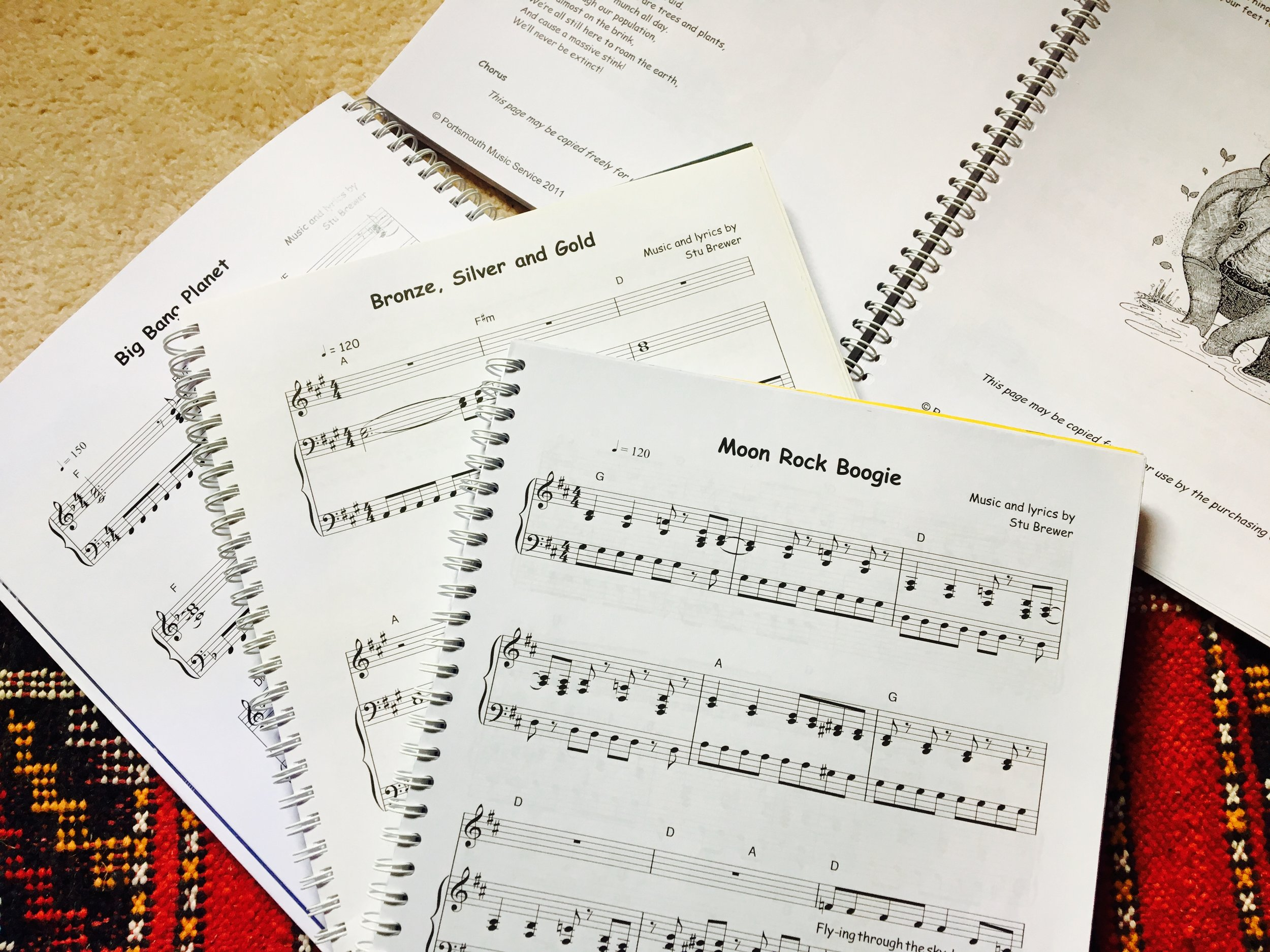 Some of my songs from the songbooks
