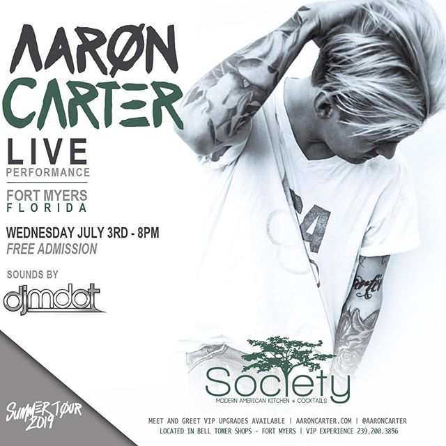 The countdown begins‼️I'm returning to #Florida next Wednesday, July 3rd at @societyftmyers - RSVP link in my Bio 🖤