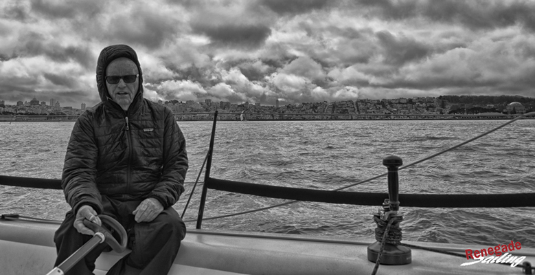 True to form, it was a dark and stormy day on San Francisco Bay at the Manuel Fagundes Seaweed Soup Regatta.