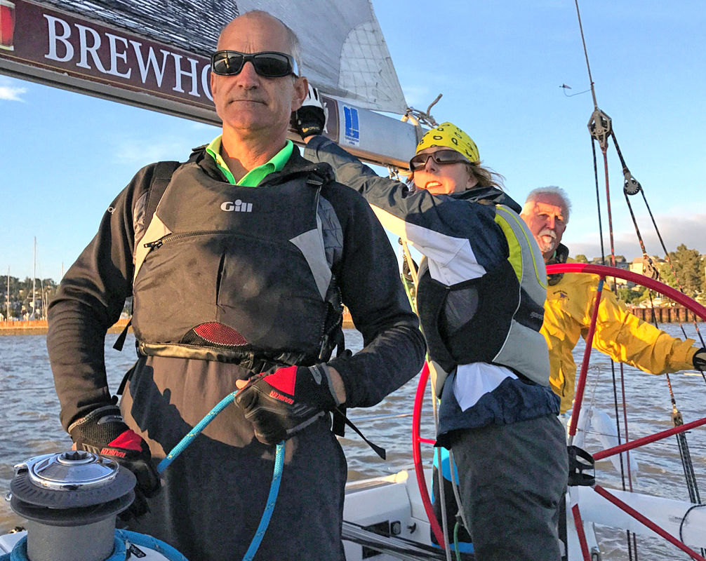 Racing with just three tried and true core members of Summer and Smoke. Here's a post about guests on a race boat.