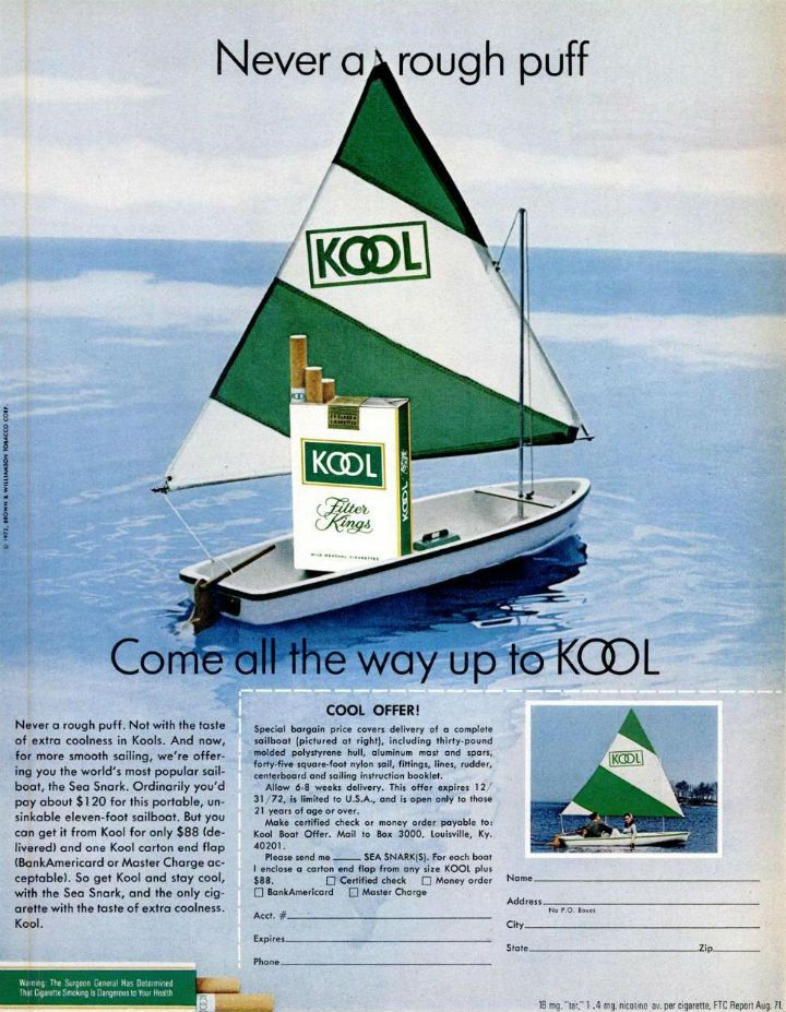 Example of a 1972 offer with credit card purchase option.