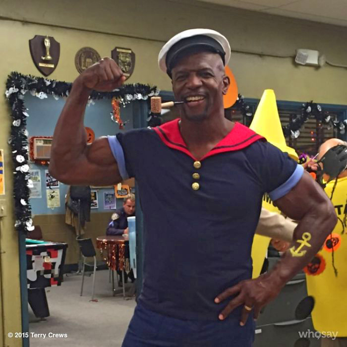 Terry Crews--one of the good and funny guys--actor, artist, former American football player. He hails from Flint, Michigan, the place getting all the attention now with the ongoing water issues.