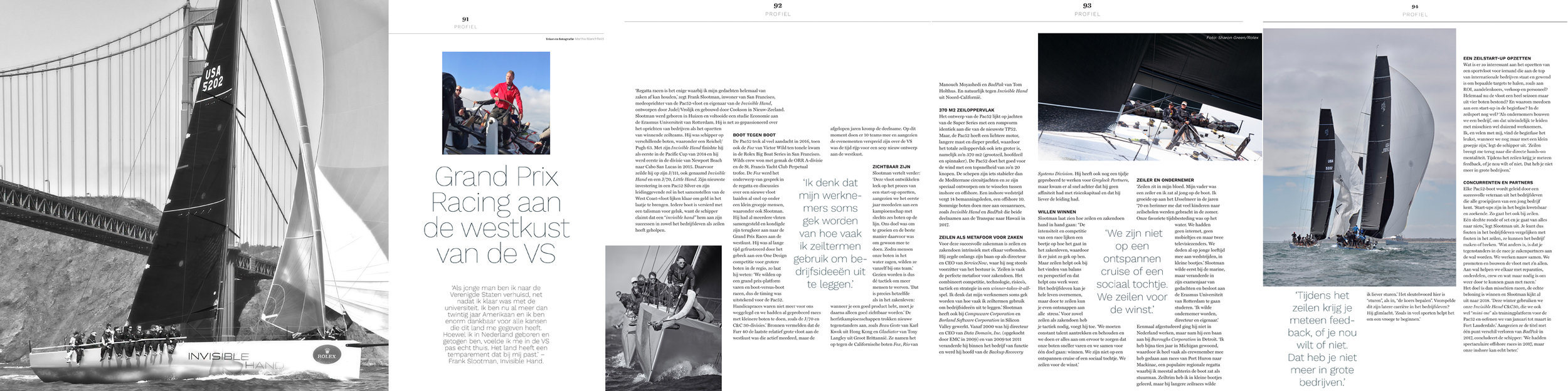 As appearing in  Nautique , a Netherlands Dutch language publication, December 2017.