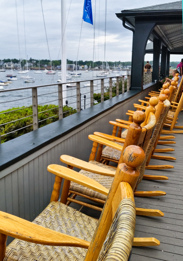Those watching the Wednesday night races from the Corinthian Yacht Club porch quaff Bent Water Brewing's best.