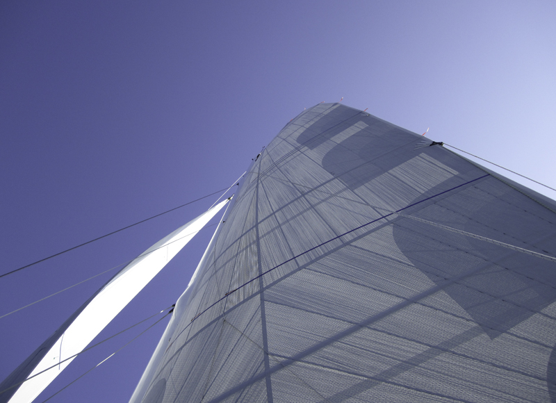 GPL double taffeta sail from Sperry Sails as made for a 50' performance cat.