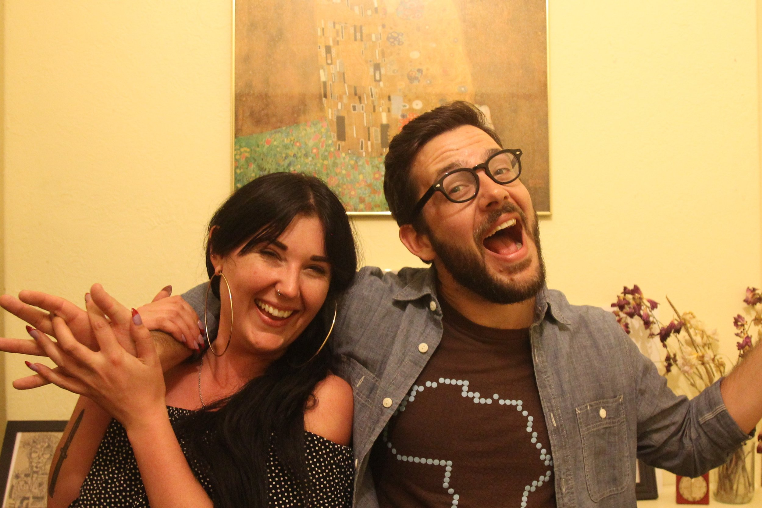 Caspar and Rose post-binge #millennials #getonboard #grassrootsactivism
