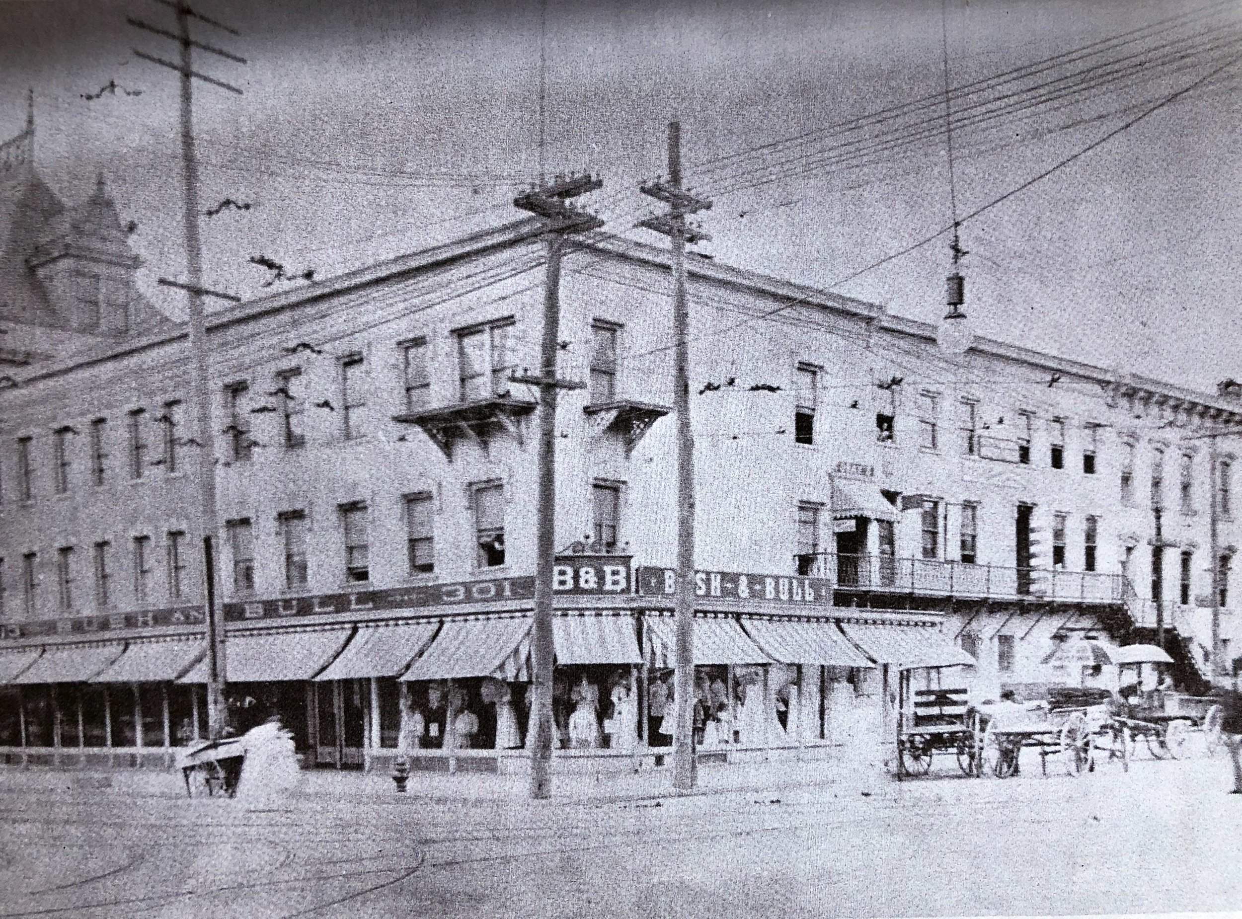 The Bush & Bull Department Store in Easton Center Circle, 1906