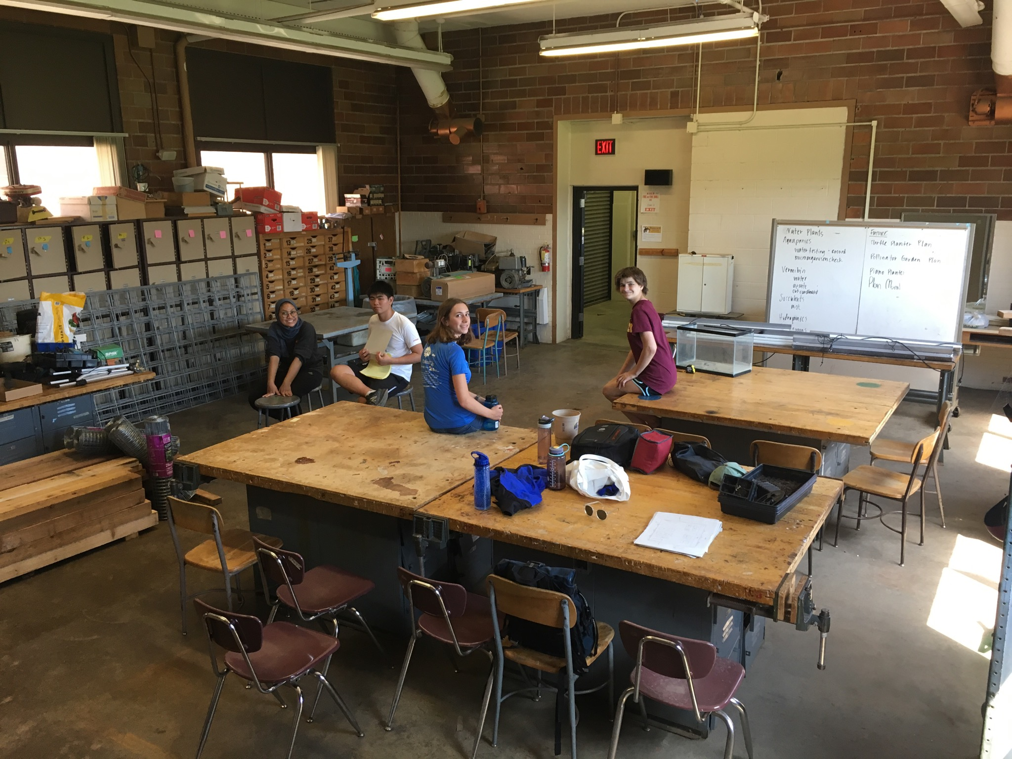 The classroom following interior design changes.