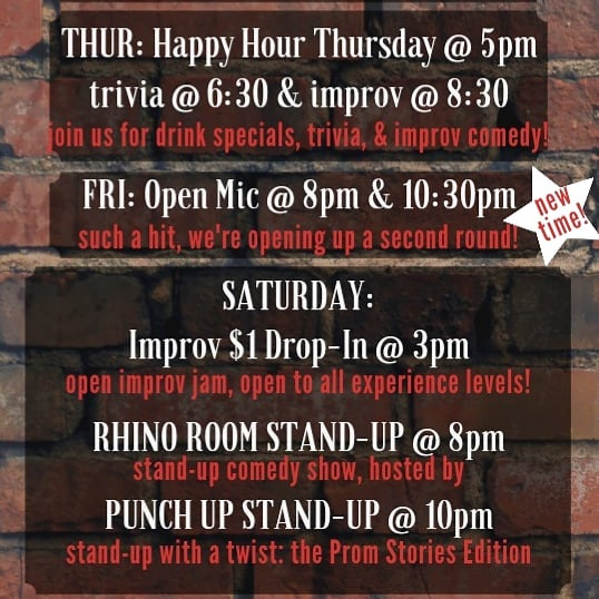 This weekend at Rhino! 🦏