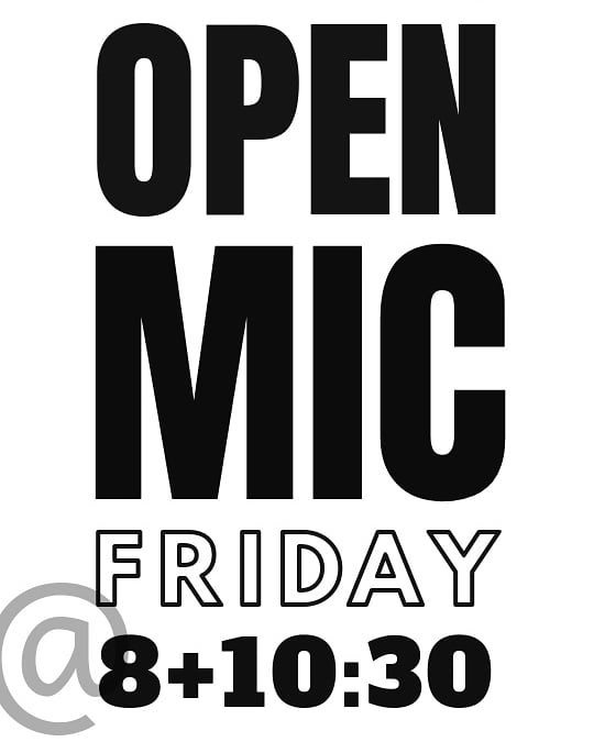 It's Open Mic Friday at Rhino!