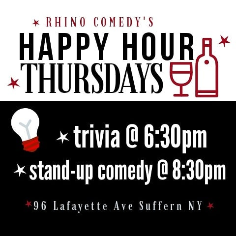 We survived Hump Day! Come celebrate with us: The Hardware Bar is serving up a mean sangria, Kelly has some trivia sure to tickle your noggin, and hilarious comics to finish off the evening! . . . . #comedy #comedytheatre #standupcomedy #standup #sangria #happyhour #suffern #newjersey #rocklandcounty