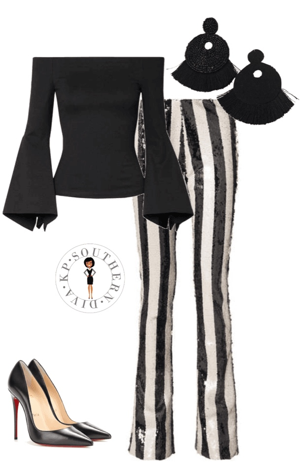 Holiday Outfit Inspiration Stripes