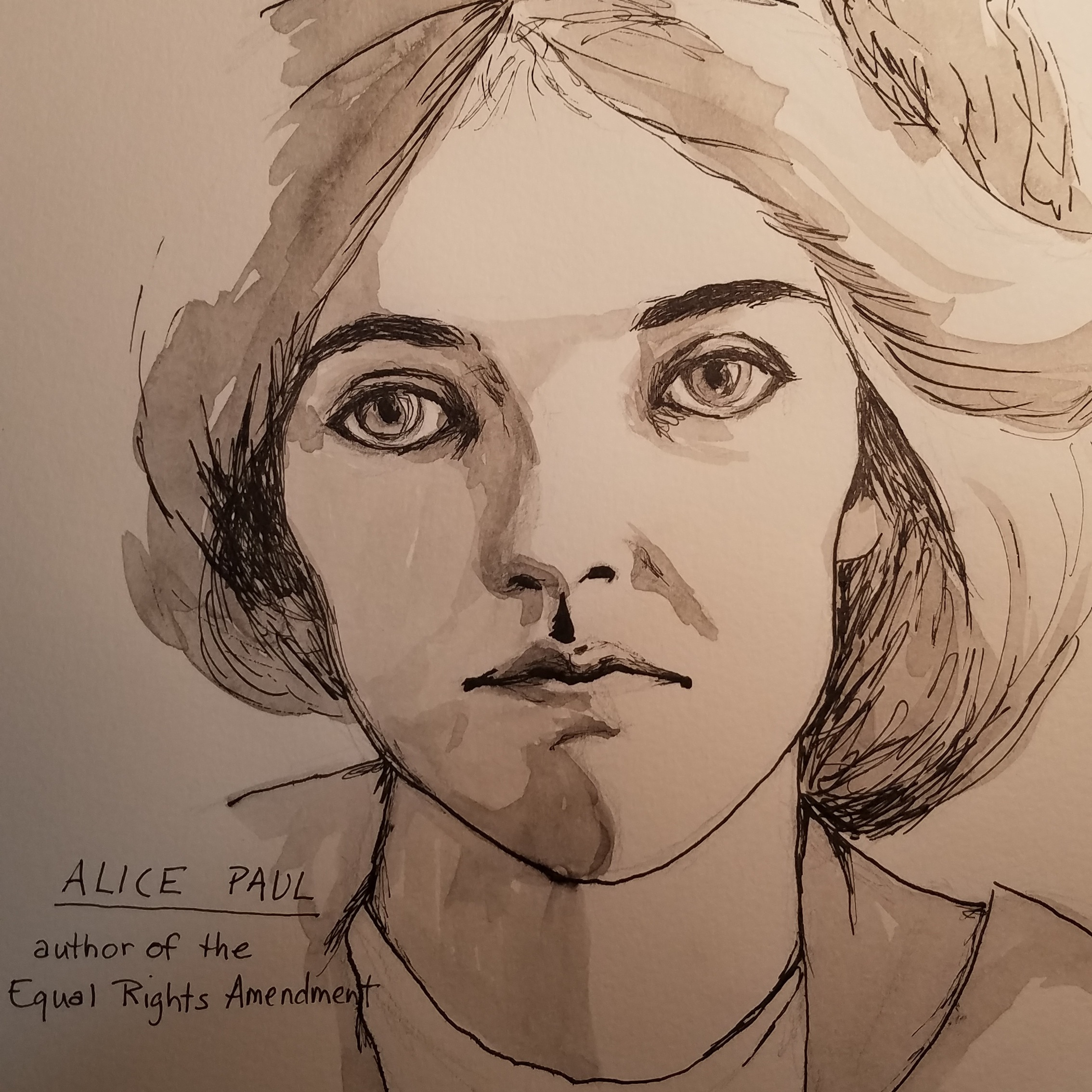 Portrait of Alice Paul, Rachael Padilla, 2019.