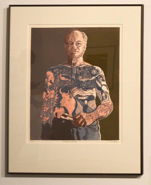 "Dennis Revitsky ,  Tattoord Artist , 20x16"""