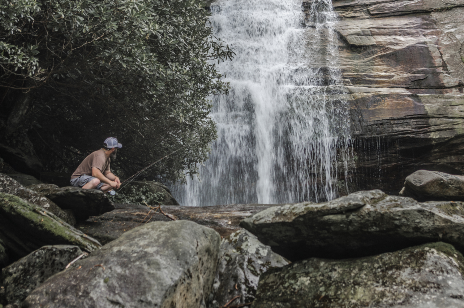 Fly Fishing and Waterfalls