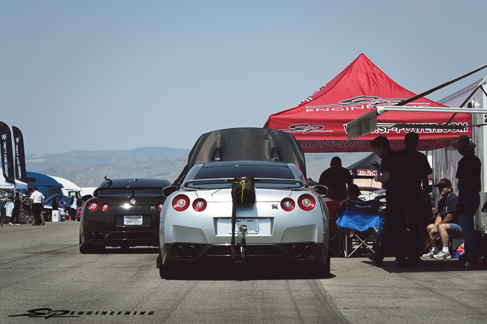 Shift-S3ctor Airstrip Attack gets bigger and faster every year. It's incredible to see more participants and sponsors involved each event. For the 5th Airstrip Attack, we brought out 10 GT-R's, 8 of which were registered in the event with our SPE power packages.