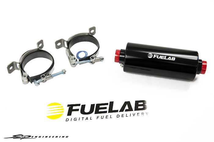 FUELAB® has taken Fuel Delivery to the next level… Digital. Prodigy Fuel Pumps work to keep your fuel cool. Variable speed operation helps to avoid fuel vaporization and allows pumps to be run in continuous duty operation for street or strip usage. With the new 529 series electronic regulator, true pump control is finally achievable and easy to install.   Pump Features   Compatible with gasoline, diesel, methanol, and ethanol  High efficiency sling vane positive displacement pump  Special housing shape for extremely quiet operation and steady pressure  Carbon 9-vane construction with pressure balanced rotor for high reliability  Backed by a 2-year limited warranty   Motor Features   Lightweight super-efficient DC brushless motor reduces current draw  Low mass rotor for high speed reaction to changes in speed and flow  Powerful high flux density Neodymium rare earth magnets  No motor brushes to wear out or corrode (low-Sulfur diesel, no problem)  Wet motor design, no dynamic shaft seals that can wear out   Electronic Features   Internal speed controller for variable flow operation  12 to 16 volt vehicle electrical system compatibility  Accepts PWM input for speed control  No expensive add-on voltage regulators or pump controllers required!  Continuous duty–motor speed can be adjusted for street or strip fuel demand   Construction Features   Compact, lightweight design, less than 3 lbs, overall length 6.9″, diameter 2.63″  Billet Aluminum Construction with anodize per MIL-A-8625, Type II  High quality mounting brackets included  Long-life, multi-fuel compatible Fluorosilicone static seals  Accepts standard or port style –10AN fittings  41401 Pump: 105 GPH @ 45 PSI – RATED UP TO 1000HP The original digital Prodigy fuel pump, great for street, strip, or off-road use.