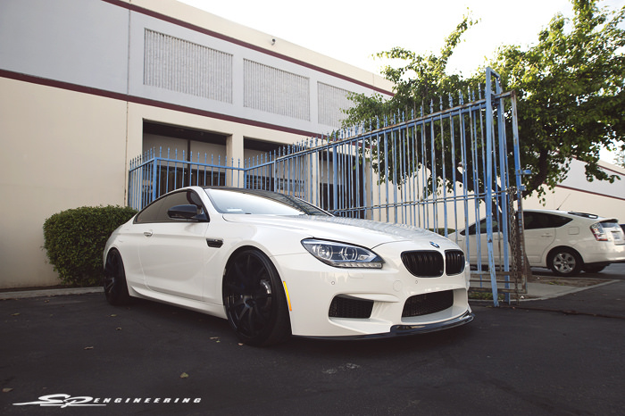 Back in December of 2013, this M6 was rocking Forgestar F14's, H&R lowering springs and an Arkym CF rear spoiler – (http://bit.ly/1hyWcjC ). Since then, there has been a few additions and changes.  BC Forged BX29 Arkym CF Front Lip Arkym CF Rear Spoiler Arkym CF Rear Diffuser