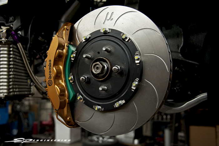 Project Mu's newest release of their SCR-Pro+ rotors were paired up with Club Racer pads: Click Me