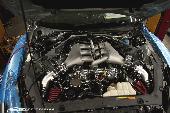 Buttoning up the engine bay with needed sensors and mil spec wiring.