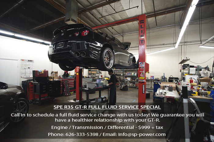 Call in to have your full fluid service change done by us!  626-333-5398 / info@sp-power.com  – SP