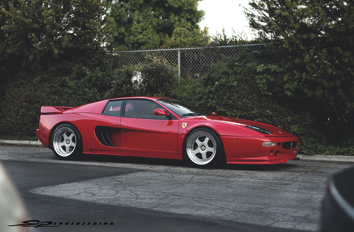 This rare Hamann widebody Ferrari F512M is a one of a kind lady in red. Classy, yet, ratchet at wide open throttle.  A little back story on the car itself;  She's a 1995 Ferrari F512M.  The last version of the Testarossa.  There were 500 total produced, 75 of them which were RHD.  This particular one you see in front of you is 1 of 2 in red that was converted to the Hamann widebody.  And mind you, the only one in the states.  But let's not get carried away with that.