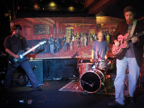 Rangda - L to R: Ben Chasny, Chris Corsano, Richard Bishop (photo by Joe Mabel)