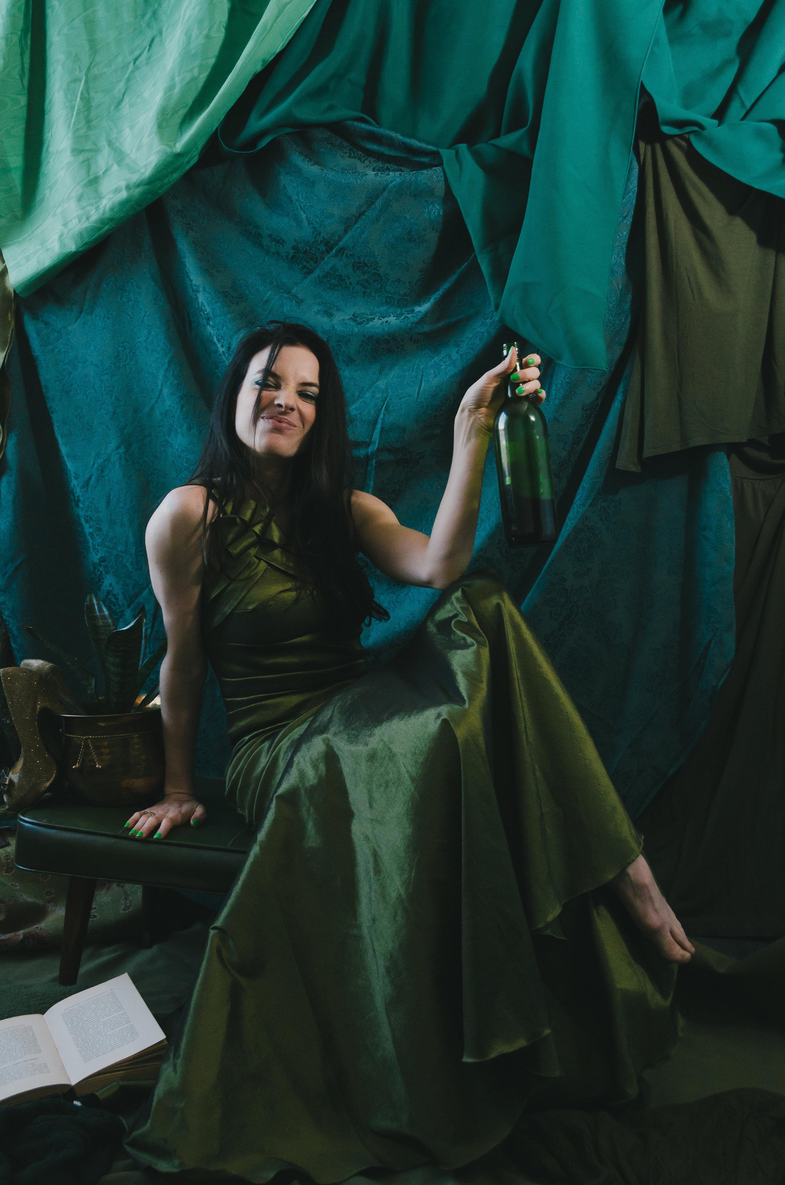 Adele at Thayne Jongewaard Photography Studio for the Green styled photo shoot.