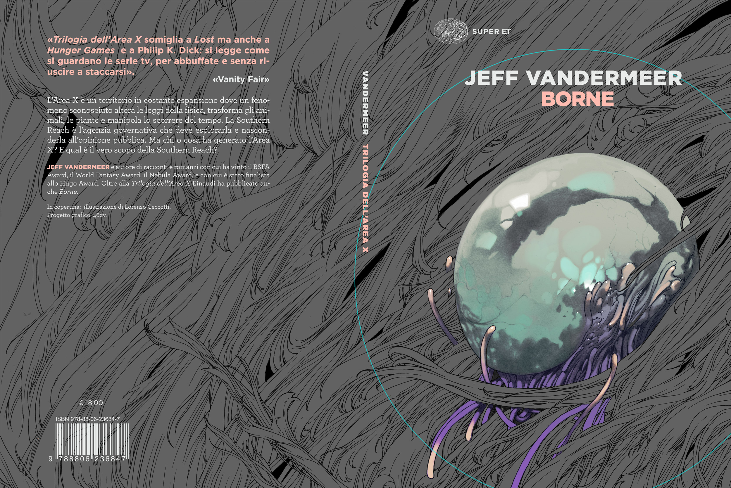 A graphic mockup for the final cover design, dummy text.